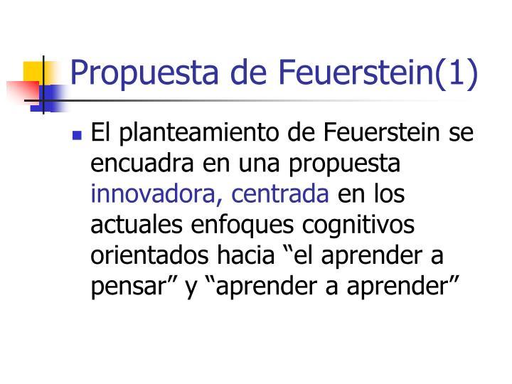 Propuesta de Feuerstein(1)