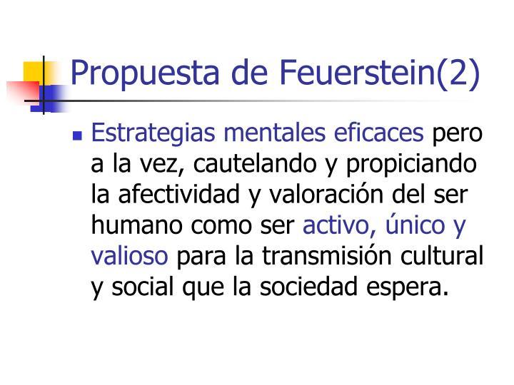 Propuesta de Feuerstein(2)