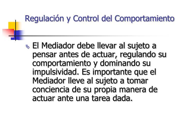 Regulación y Control del Comportamiento