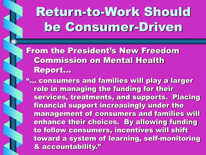Return-to-Work Should be Consumer-Driven