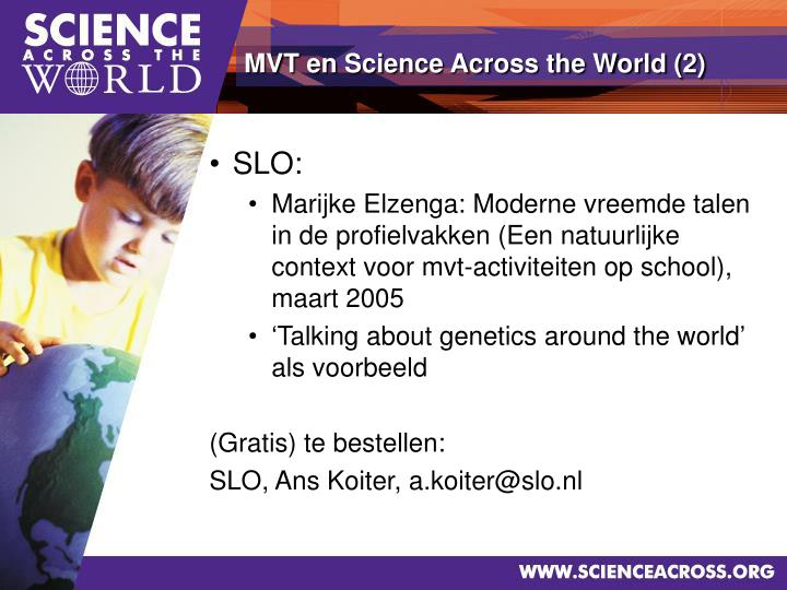 MVT en Science Across the World (2)