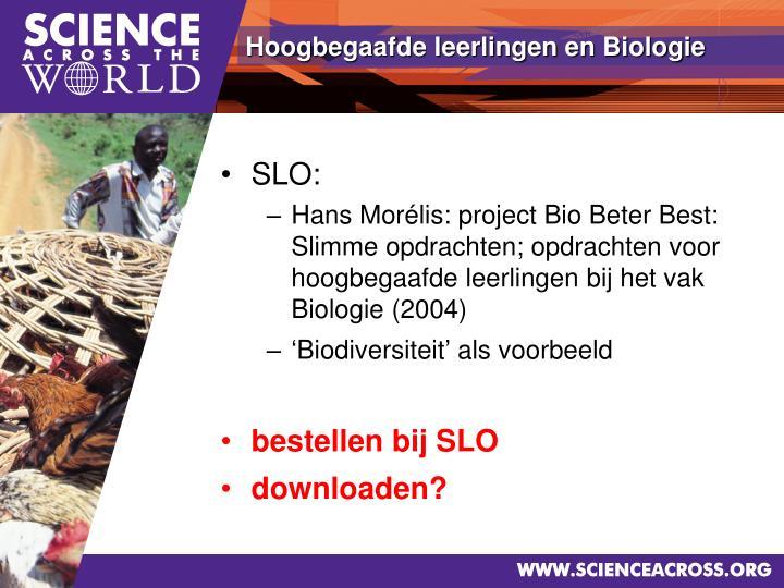 Hoogbegaafde leerlingen en Biologie