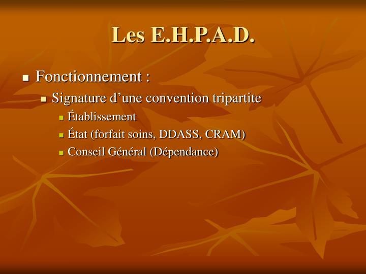 Les E.H.P.A.D.