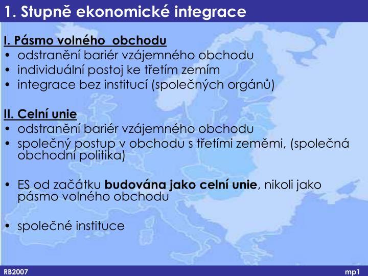 1. Stupně ekonomické integrace