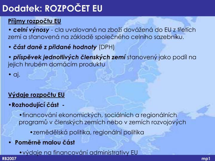 Příjmy rozpočtu EU