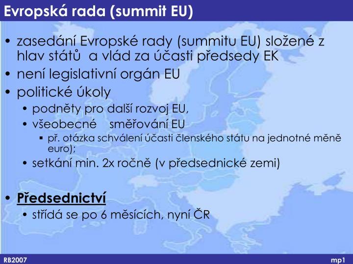 Evropská rada (summit EU)