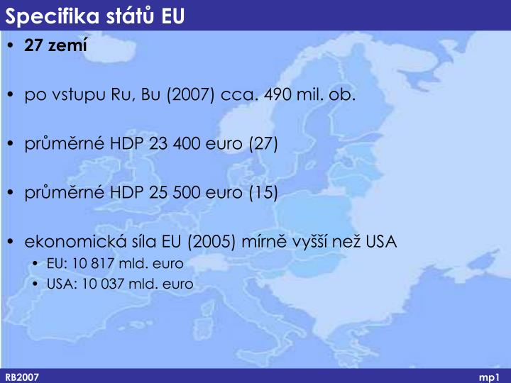 Specifika států EU