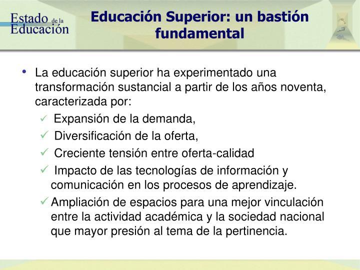 Educación Superior: un bastión fundamental