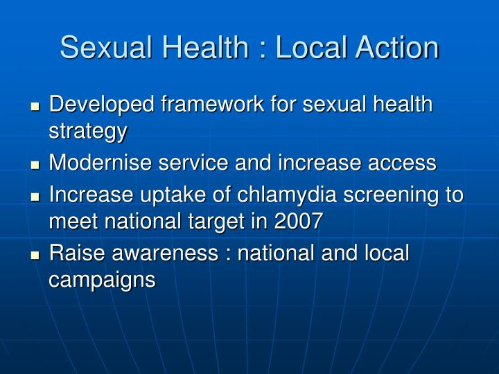 Sexual Health : Local Action