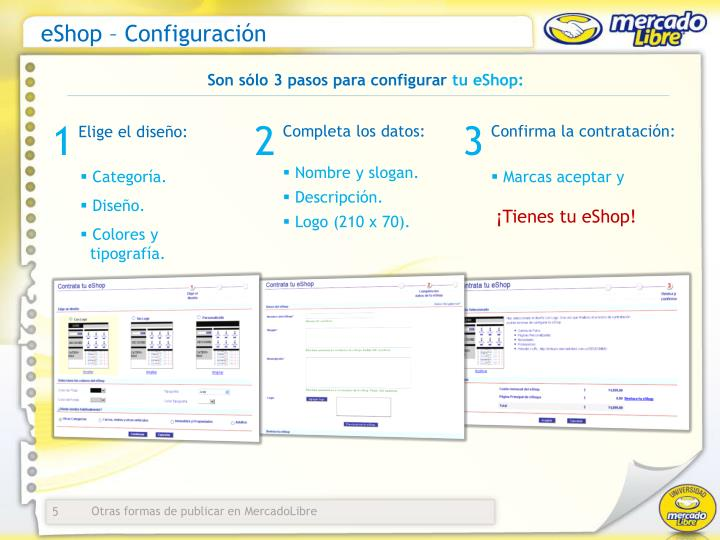 eShop – Configuración
