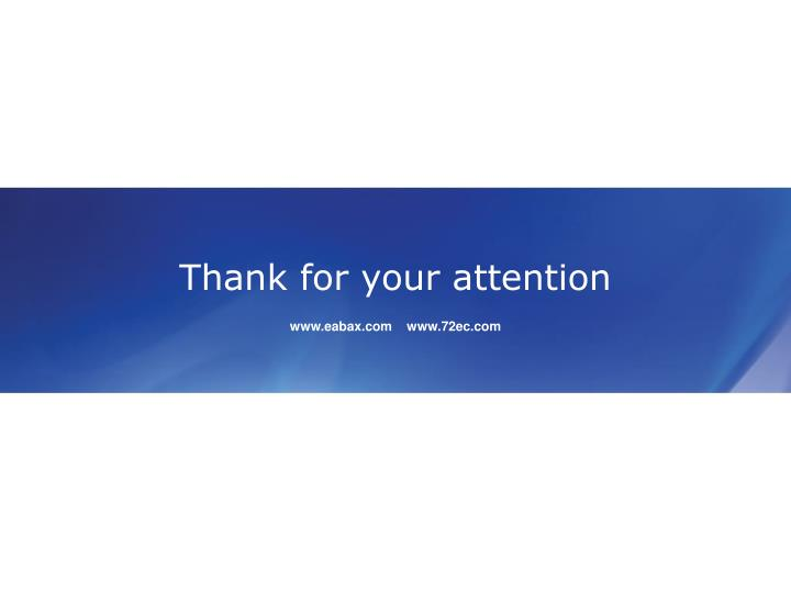 Thank for your attention