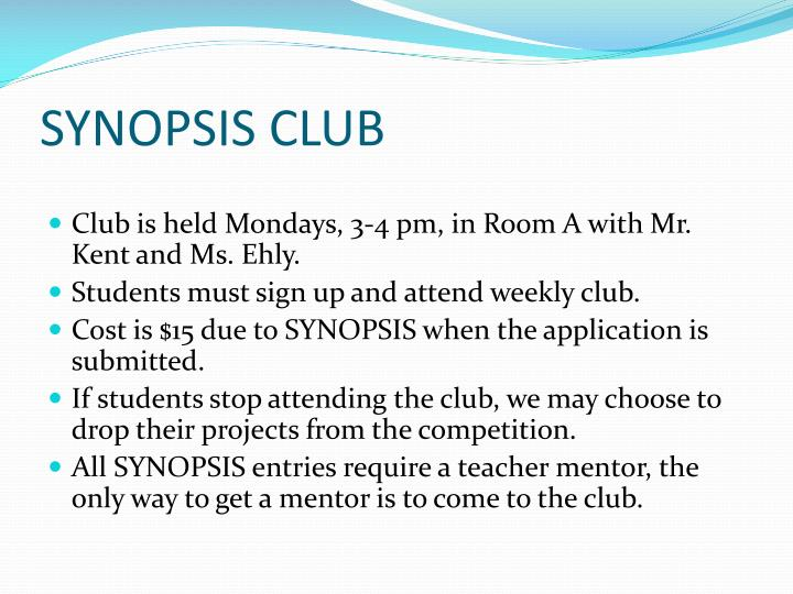 SYNOPSIS CLUB