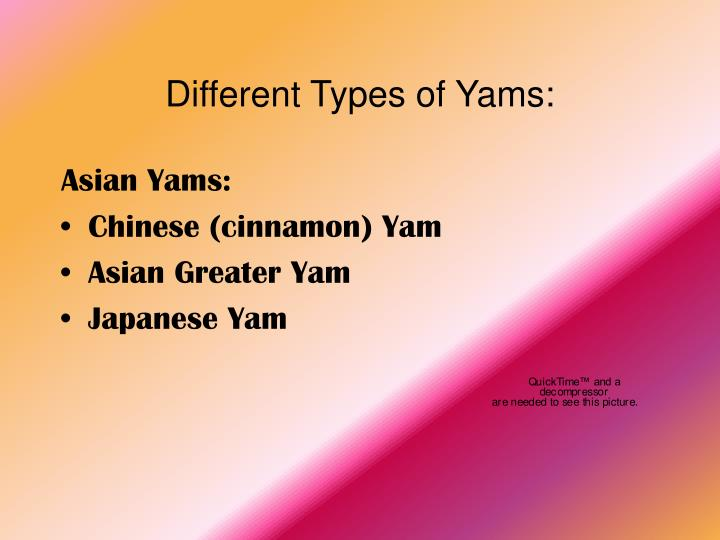 Different types of yams1