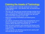 claiming the assets of technology