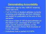 demonstrating accountability