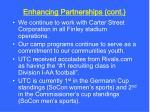 enhancing partnerships cont