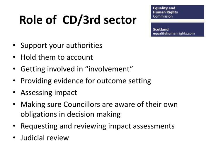 Role of cd 3rd sector
