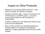 impact on other protocols