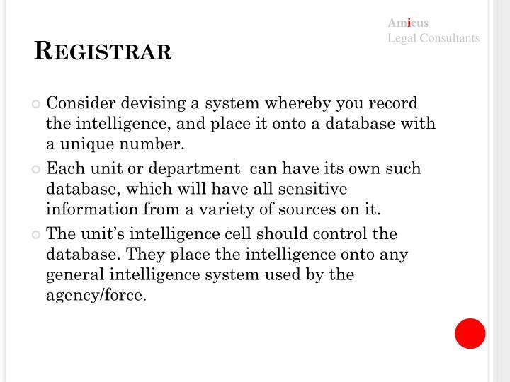 Registrar