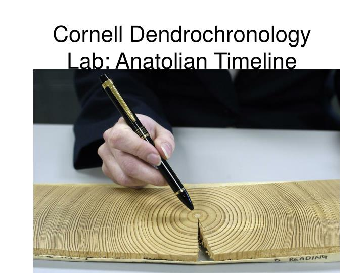 Cornell Dendrochronology Lab: Anatolian Timeline