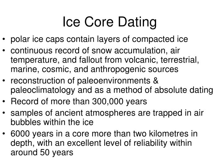 Ice Core Dating