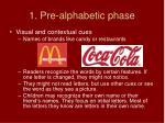 1 pre alphabetic phase