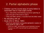 2 partial alphabetic phase