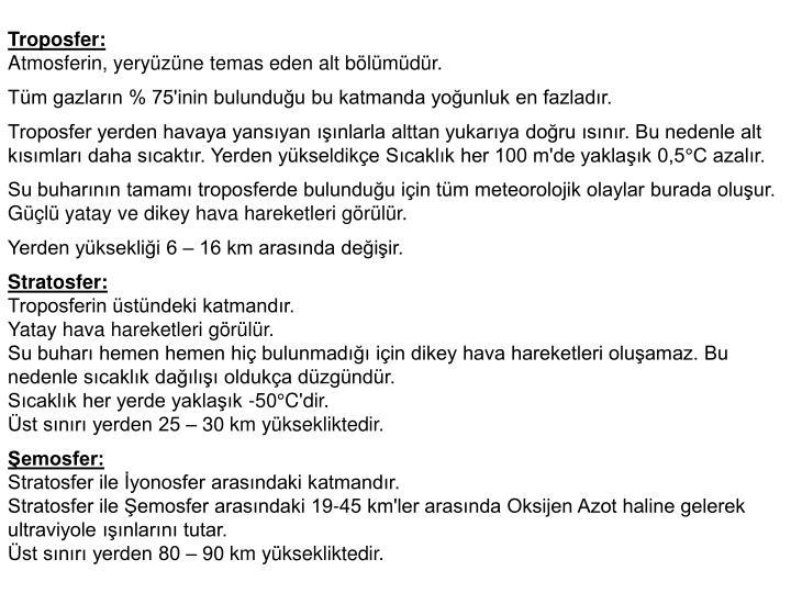 Troposfer: