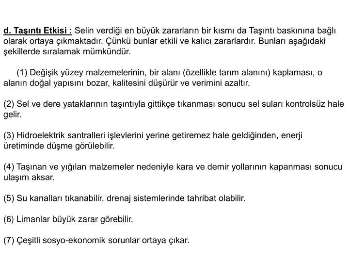 d. Tant Etkisi :
