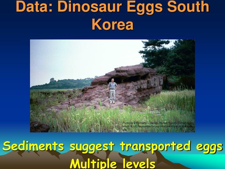 Data: Dinosaur Eggs South Korea