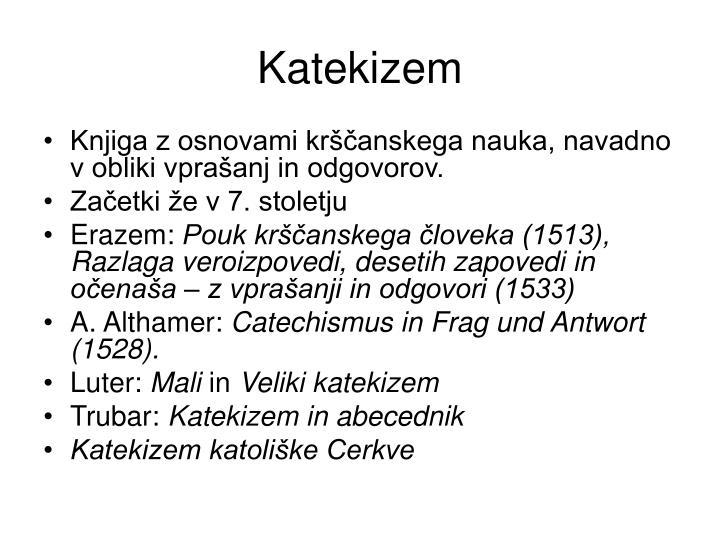 Katekizem