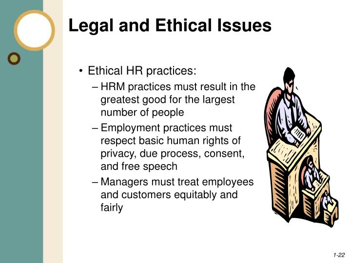 ethical issues in employment law Initial ethics orientations concentrate on the principles in the standards of ethical conduct annual ethics training  the post employment law in 18 usc.