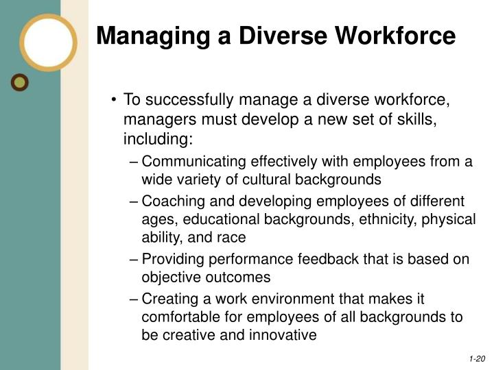managing diverse workforce I have spent the past 15 years promoting diversity management regularly post updates to show your workforce avoid conflict while managing cultural diversity.