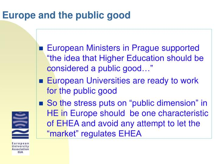 Europe and the public good