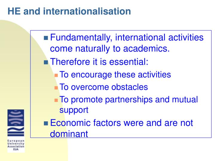HE and internationalisation
