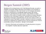 bergen summit 2005