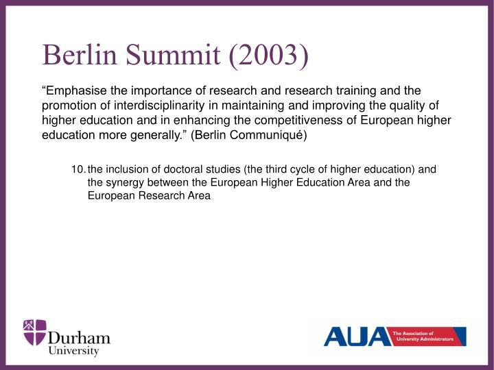 Berlin Summit (2003)