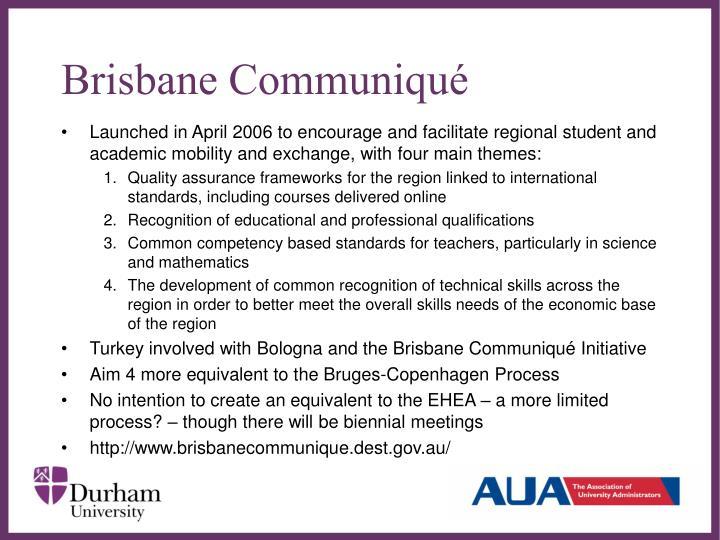 Brisbane Communiqué