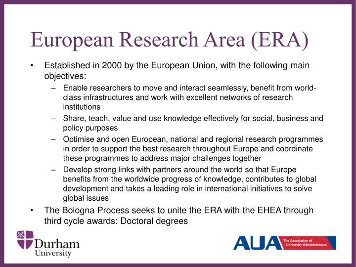 European Research Area (ERA)