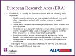 european research area era