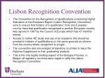 lisbon recognition convention