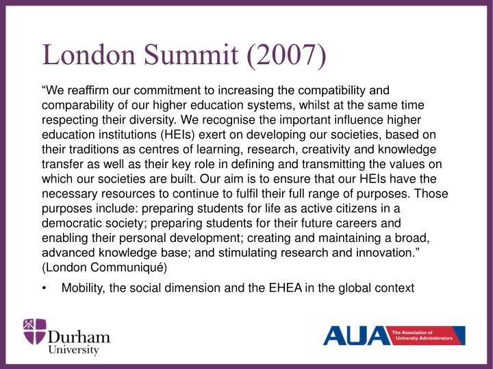 London Summit (2007)