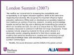 london summit 2007