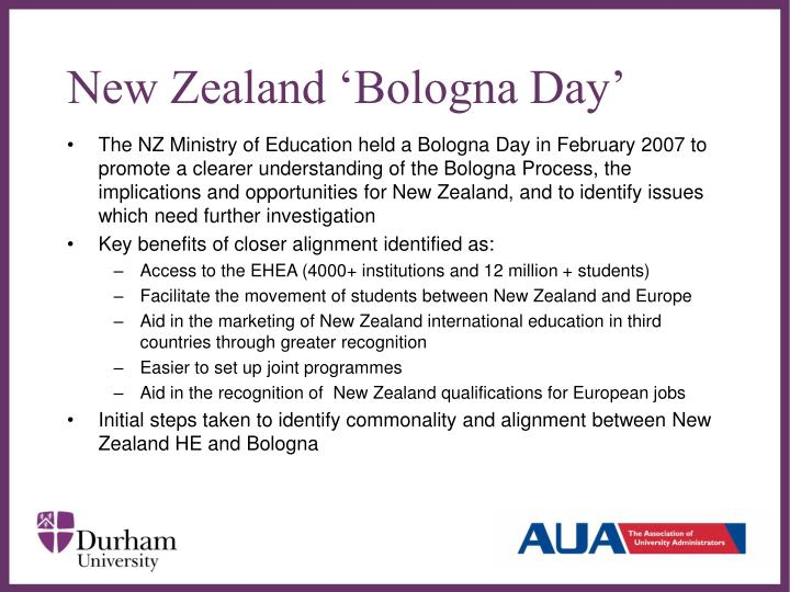 New Zealand 'Bologna Day'