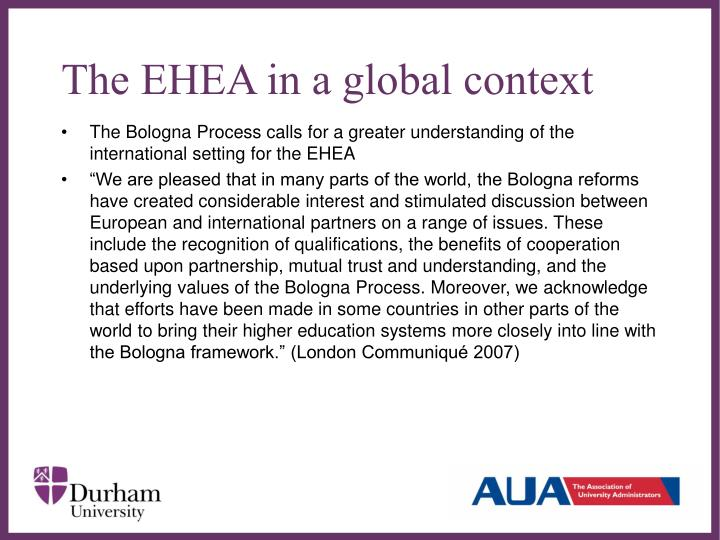 The EHEA in a global context