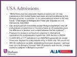 usa admissions