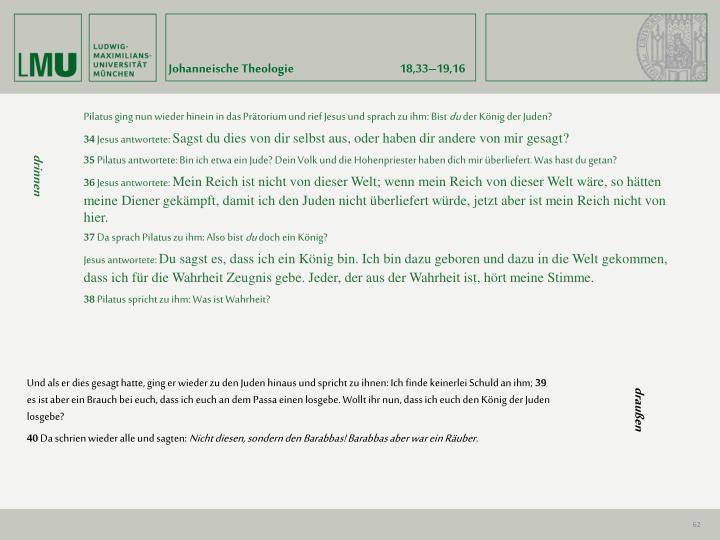 Johanneische Theologie18,33–19,16
