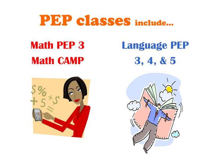 Math PEP 3