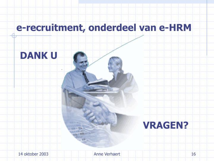 e-recruitment, onderdeel van e-HRM