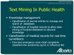 text mining in public health